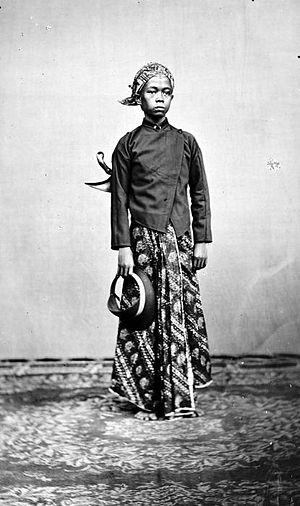 COLLECTIE TROPENMUSEUM Een jonge Javaan te Semarang Java TMnr 10002811