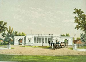 Merdeka Palace - Lithograph of the Paleis te Koningsplein in the 1880s (now Merdeka Palace)