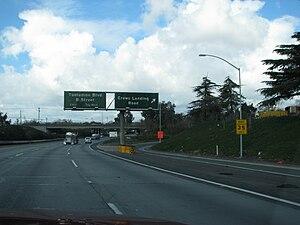 English: Ca-99 (northbound) near Modesto, Cali...