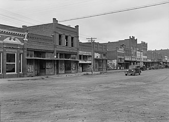 Caddo, Oklahoma - Caddo, Oklahoma in 1938 during The Great Depression as captured by Dorothea Lange.