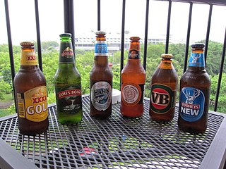 Six Australian beers. XXXX Gold was Australia's top-selling beer by volume in 2012.