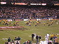 Cal takes the field before 2008 Emerald Bowl.JPG
