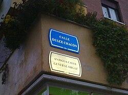 MAPA DE LAS CALLES FRANQUISTAS EN MADRID
