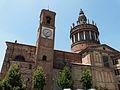 Camagna Monferrato-chiesa sant'eusebio-campanile e cupola.jpg