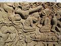 Cambogia, architrave con storie di rama, lakasmana, sugriva e valin, da vat baset, stile di baphuon, xi sec. 03.JPG