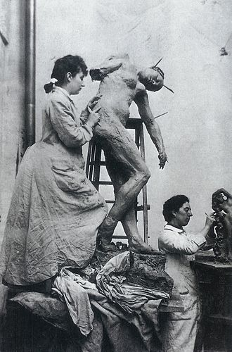 Camille Claudel - Camille Claudel (left) and sculptor Jessie Lipscomb in their Paris studio in the mid-1880s