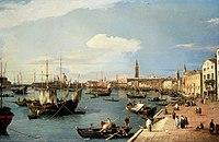 Canaletto - View of Venice, The Riva Degli Schiavoni, looking West, c. 1736 CDN SJS SM P66.jpg