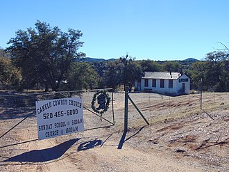 Canelo, Arizona - The Canelo Cowboy Church, a former schoolhouse built in 1912.