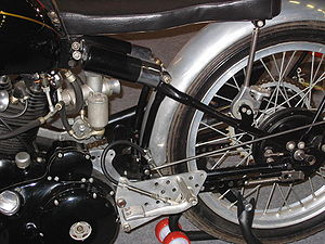 Vincent Motorcycles - Detail of Vincent cantilever suspension