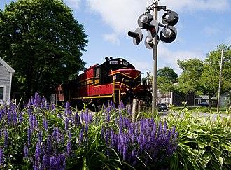 Cape Cod Central Railroad - A CCCR Train in Sandwich, Massachusetts