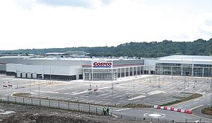 Leckwith development - The Capital Retail Park during construction