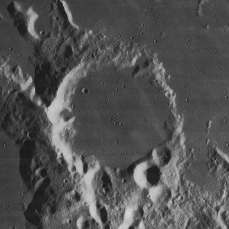 Capuanus (crater) - Lunar Orbiter 4 image