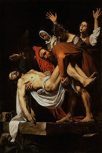 Burial of Jesus - The Entombment of Christ by Caravaggio.