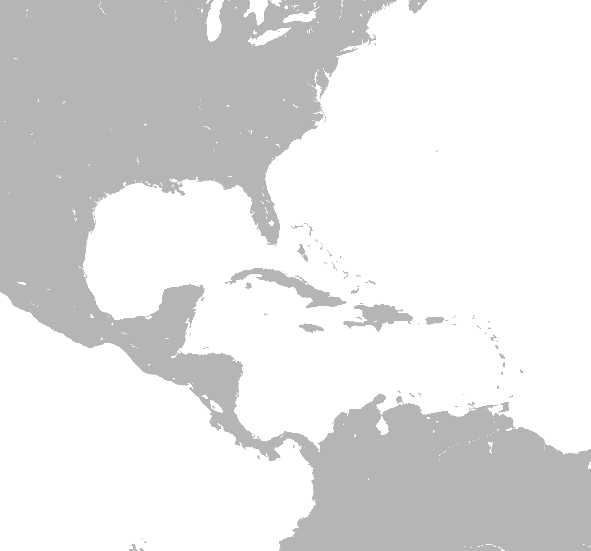 North America Outline Map Current Assignments Español - Central america and the caribbean islands map