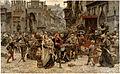 Carl Gustaf Hellqvist - Valdemar Atterdag Holding Visby to Ransom, 1361 - Google Art Project.jpg