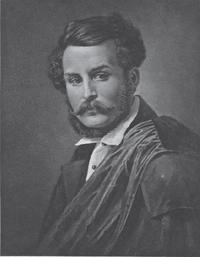 Carl Wilhelm Böttiger porträtterad avOlof Johan Södermark.