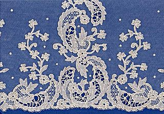 Irish lace lace produced in Ireland