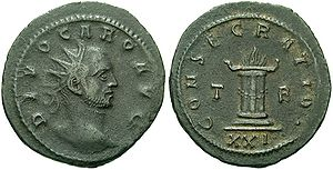 http://upload.wikimedia.org/wikipedia/commons/thumb/a/ab/Carus_coins.jpg/300px-Carus_coins.jpg