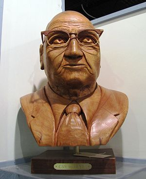 Bust of Cas Walker at the Museum of Appalachia...