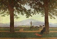 Caspar David Friedrich: Gartenterrasse, 1811 (Quelle: Wikimedia)