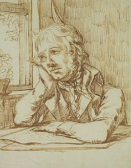 Caspar David Friedrich - Selbstbildnis mit aufgestütztem Arm (ca. 1802)