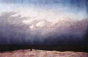 The Dog (Goya) - Caspar David Friedrich's The Monk by the Sea (c. 1808–1809) is less intimate than Goya's work