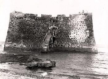Fortaleza de Santa Catalina entre 1920 y 1922, antes de la construcción de la Base Naval.
