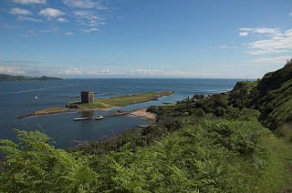 Little Cumbrae Castle castle in North Ayrshire, Scotland, UK