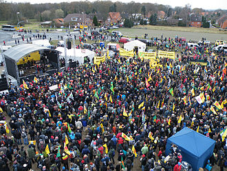 Anti-nuclear movement in Germany - Castor demonstration in Dannenberg, November 2011.