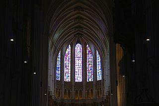 Vitraux de l'abside de la cathédrale Notre-Dame de Chartres