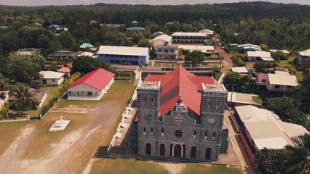 Cathedral of Our Lady of the Assumption, Mata-Utu Cathedrale de Mata-Utu (Wallis-et-Futuna) drone.png
