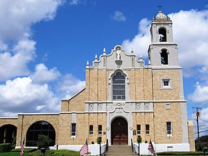 Roman Catholic Diocese of Tyler - Exterior of the Cathedral of the Immaculate Conception in Tyler