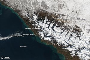 2014 Winter Olympics - Sochi from space