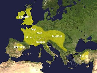 Celts - Expansion of the Celtic culture in the third century BC according to Francisco Villar
