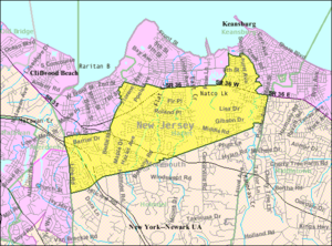 Hazlet, New Jersey - Image: Census Bureau map of Hazlet, New Jersey