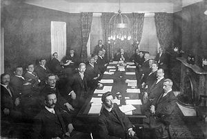 History of Honduras (1838–1932) - The opening session of the Central American Peace Conference, 1907.