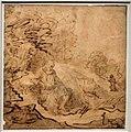 Cerchia di rembrandt, san paolo eremita visitato da sant'antonio, olanda 1650 ca.jpg
