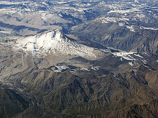 Cerro Azul (Chile volcano) mountain in Curicó Province Chile
