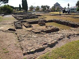 Roman ruins of Cerro da Vila building in Loulé, Faro District, Portugal