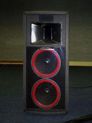 Cerwin-Vega - Cerwin Vega dual 15-inch speaker cabinet.
