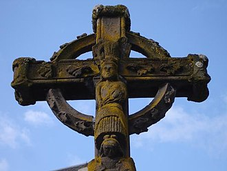 Gauls - Celtic cross, in Chambon-sur-Lac, Auvergne, France.