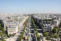 Champs-Élysées from the Arc de Triomphe, Paris 20 August 2013 002.jpg