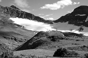 Chaney Glacier in Glacier National Park (U.S.)...