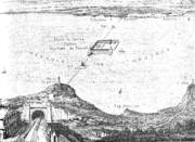 Thomé de Gamond's 1856 plan for a cross-Channel link, with a port/airshaft on the Varne sandbank mid-Channel.