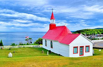 Tadoussac - Old chapel, built 1747-1750