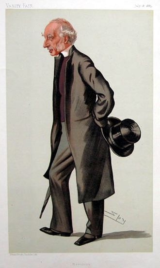 Charles Ellicott - Ellicott as caricatured by Spy (Leslie Ward), July 1885.