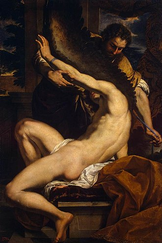 Daedalus - Daedalus and Icarus, c. 1645, by Charles Le Brun (1619–1690)