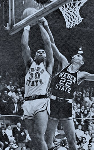 Charles Parks (basketball) - Parks (left) in college against Weber State (c. 1967)