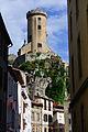 Chateau de Foix - tour ronde (sud) vue de la rue Saint-Jammes.jpg