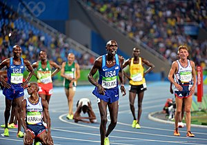 Chelimo, Farah, Lagat react to Rio Games 5K finish (28517081564).jpg
